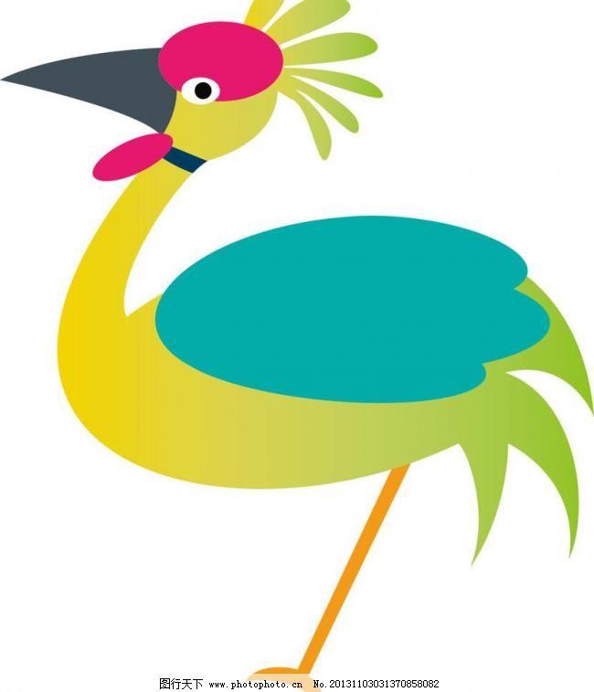 ai t恤印花 本本封面 布纹 插画 创意 创意插画 创意设计 丹顶鹤 儿童