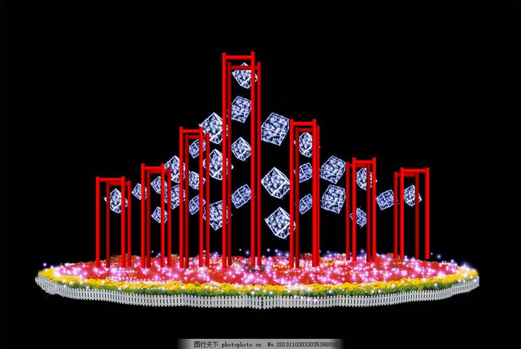 条形花坛手绘效果图