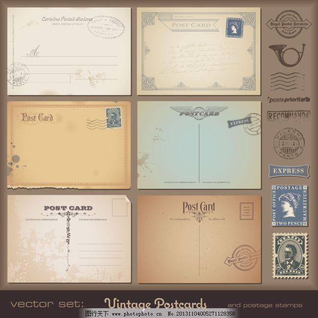 复古欧式花纹贺卡 复古欧式花纹贺卡免费下载 标签 古典 喇叭 信封