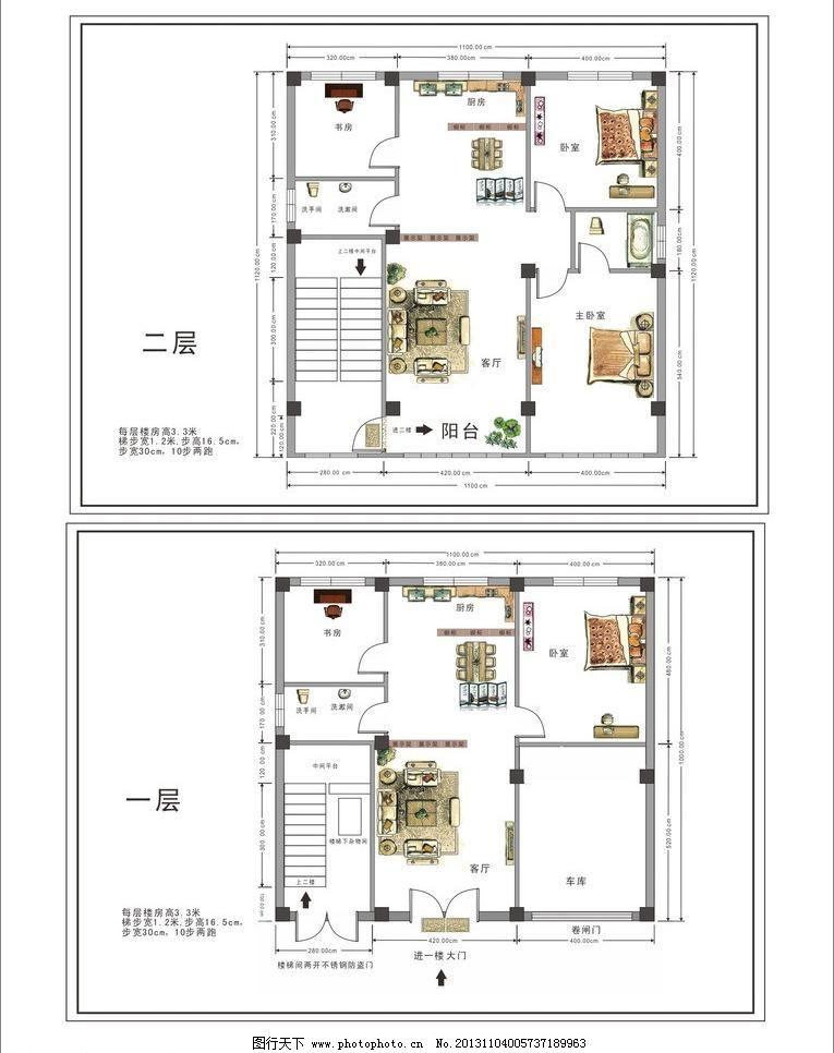 cdr 别墅平面图 传统建筑 建筑家居 平面布置图 平面图 室内平面图 自