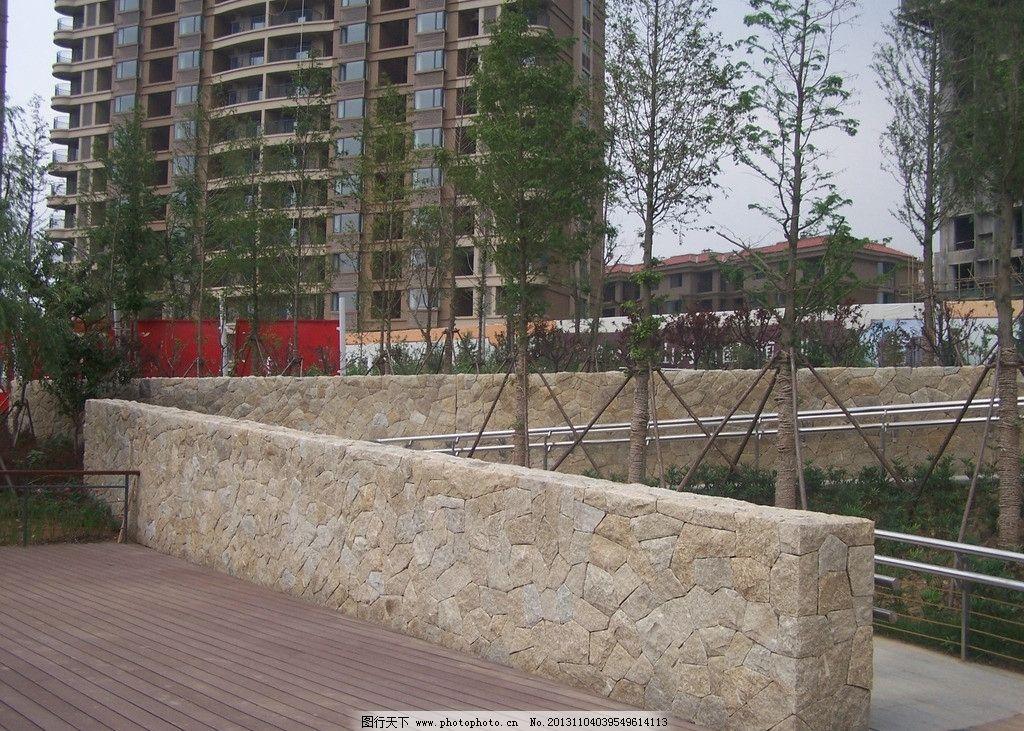 景墙一 石材 园林设计 景墙 冰裂纹 碎拼 园林建筑 建筑园林 摄影 230