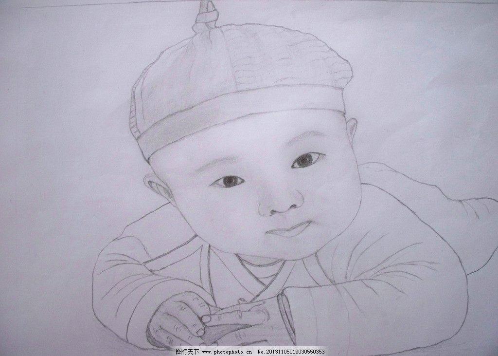 素描 铅笔画 小女孩图片