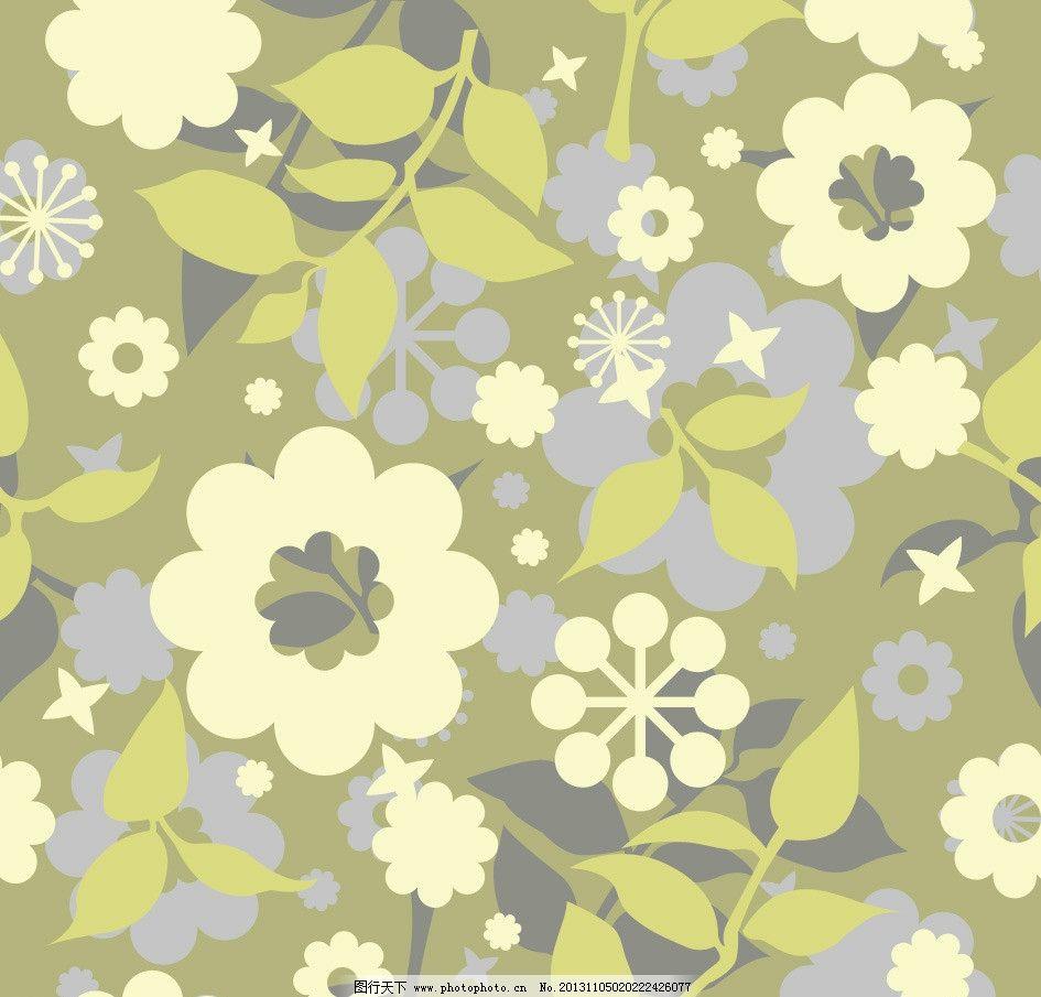 花朵素材 碎花 布艺 平铺 桌面 背景 花 叶子 植物 小清新 大气 底纹