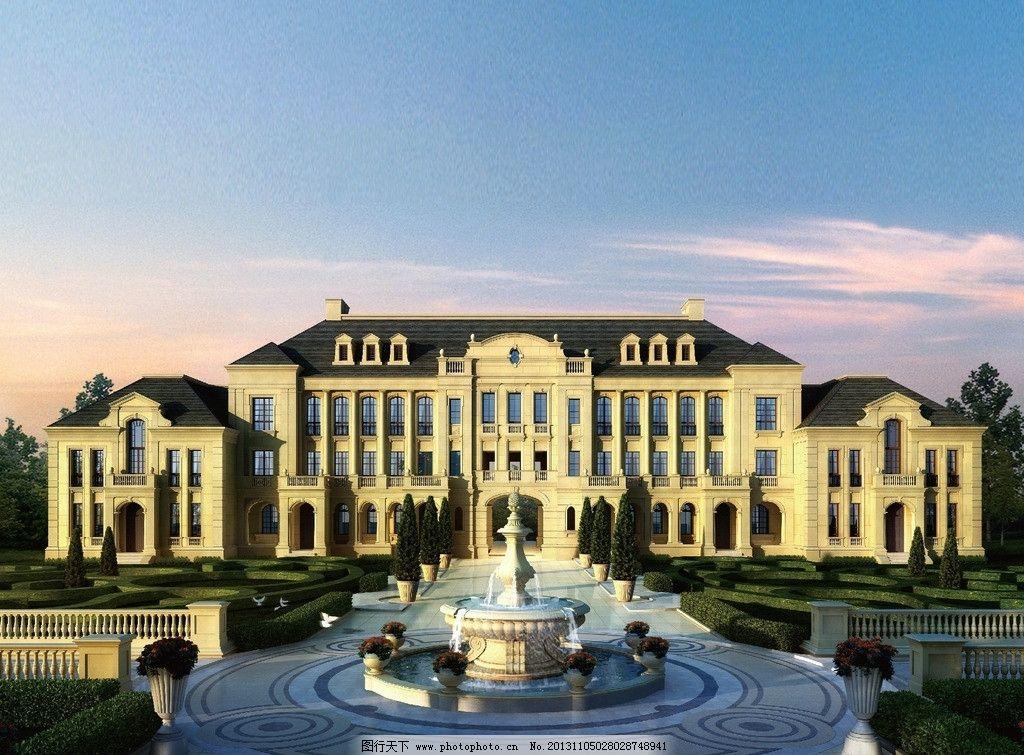 欧式会所 欧式 会所 喷泉 三层 豪华 建筑设计 环境设计 设计 72dpi