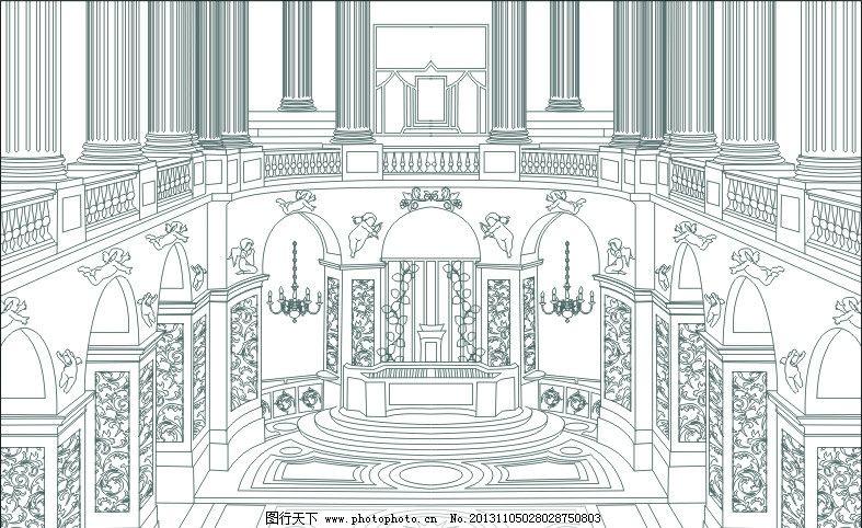 教堂 罗马 建筑 罗马教堂 天使 广告设计 矢量 cdr