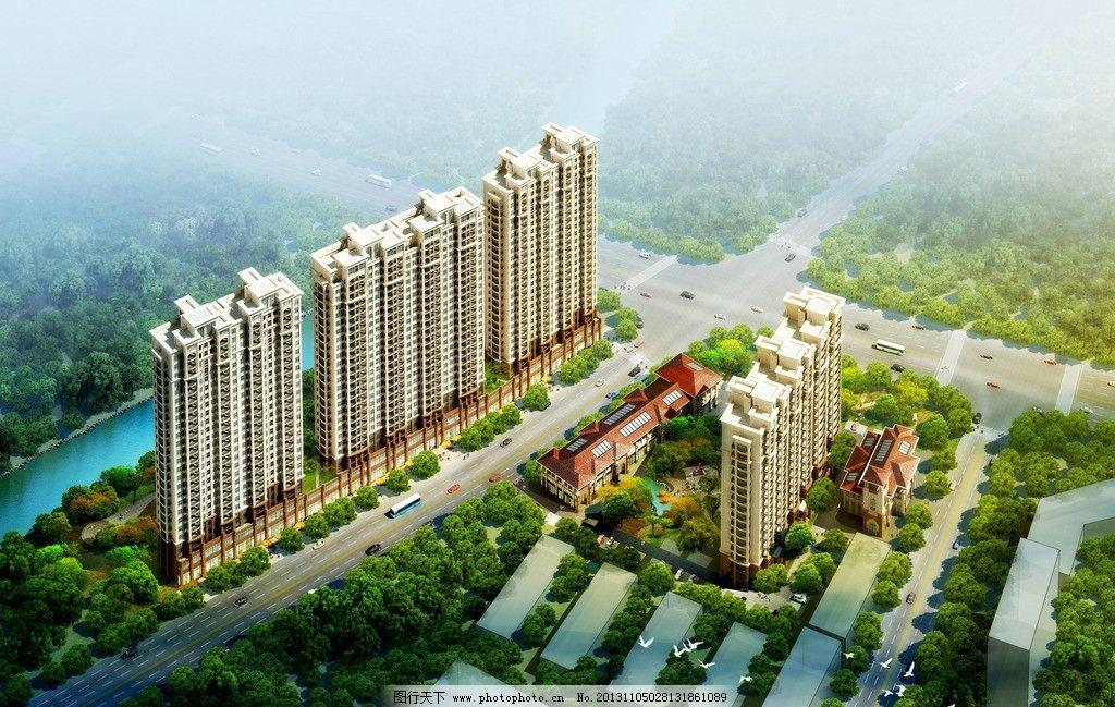 房地产 鸟瞰图        环境 景观 欧式 大气 景观设计 环境设计 源