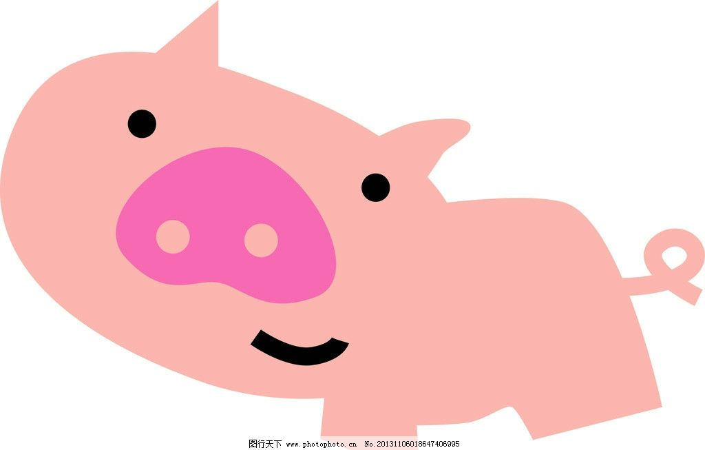 卡通猪 卡通 漫画 小猪 动物 粉色 其他 动漫动画 设计 300dpi jpg