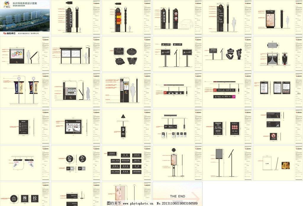 广场导视系统 商场标识 标识系统 导示系统 房地产 导示 铭牌 楼层