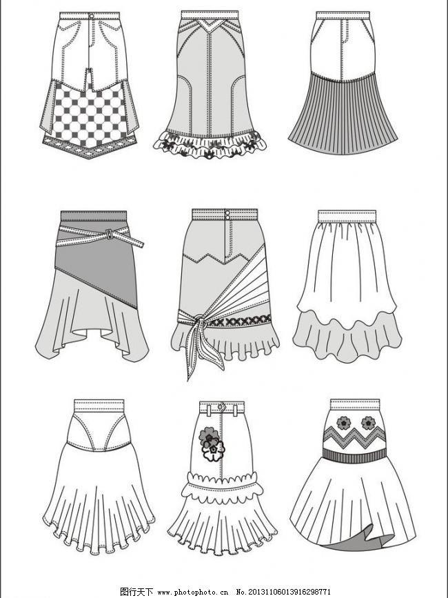 服装款式图图片