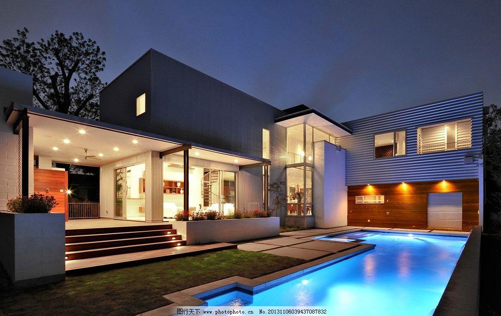 别墅 游泳池 豪宅 房子 建筑 复式 豪华 景观 房屋 房产 庭院