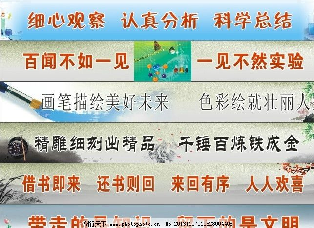 实验室标语 励志标语 励志横幅图片