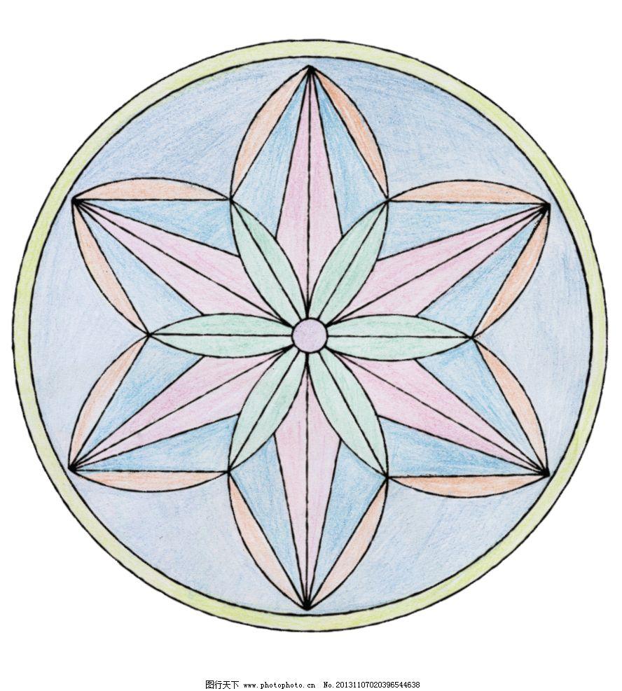 曼陀罗 印花 花纹 底纹 玻璃 素材 花 填色 花边花纹 底纹边框 设计 7