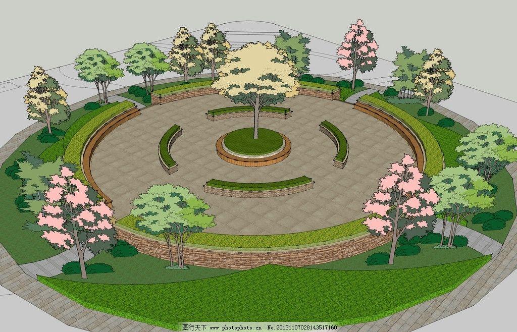树池手绘平面图