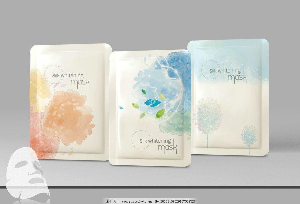面膜包装设计 包装设计 面膜袋 淡雅包装 面膜贴 唯美 广告设计模板