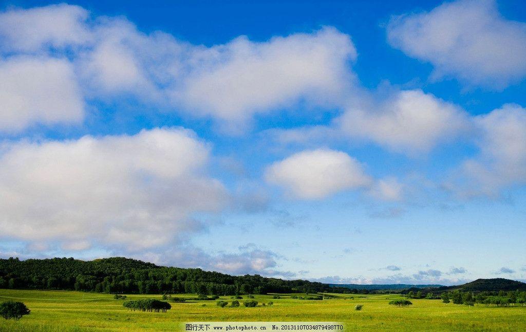 蓝天白云草地图片,草原 青草 自然 春天 美景 壮