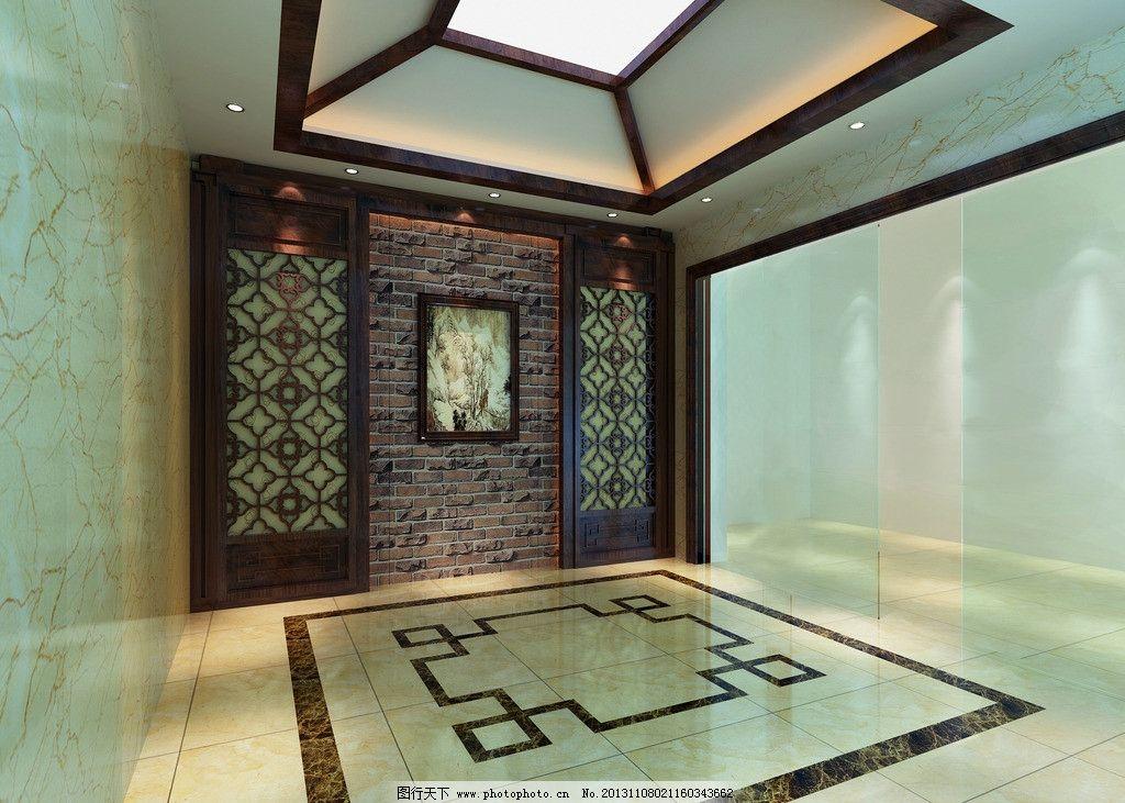 新中式门厅效果图图片
