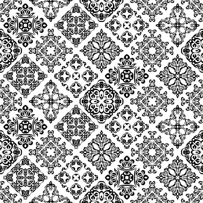 花朵图案 中国风底纹 中国风底纹 花朵图案 桌布图案 矢量图 花纹花边
