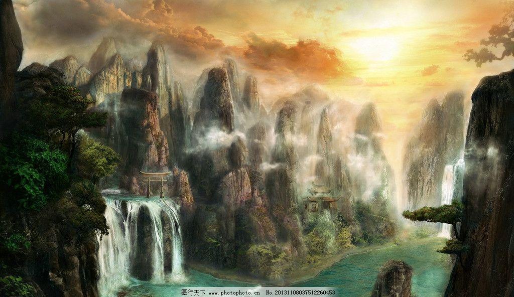 動漫風景背景圖片
