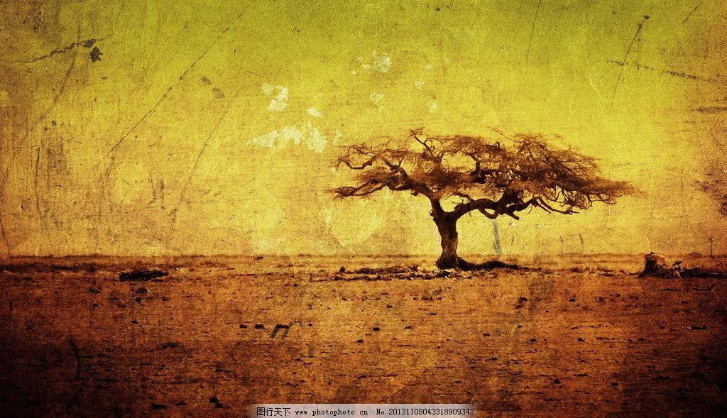 复古树背景 梦幻 科幻 树 卡通 动物 复古 背景 纸张 牛皮纸 其他