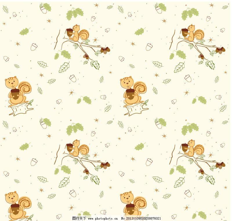 松鼠 布纹 底纹 花 花边 背景 可爱背景 可爱底纹 小动物 底纹背景