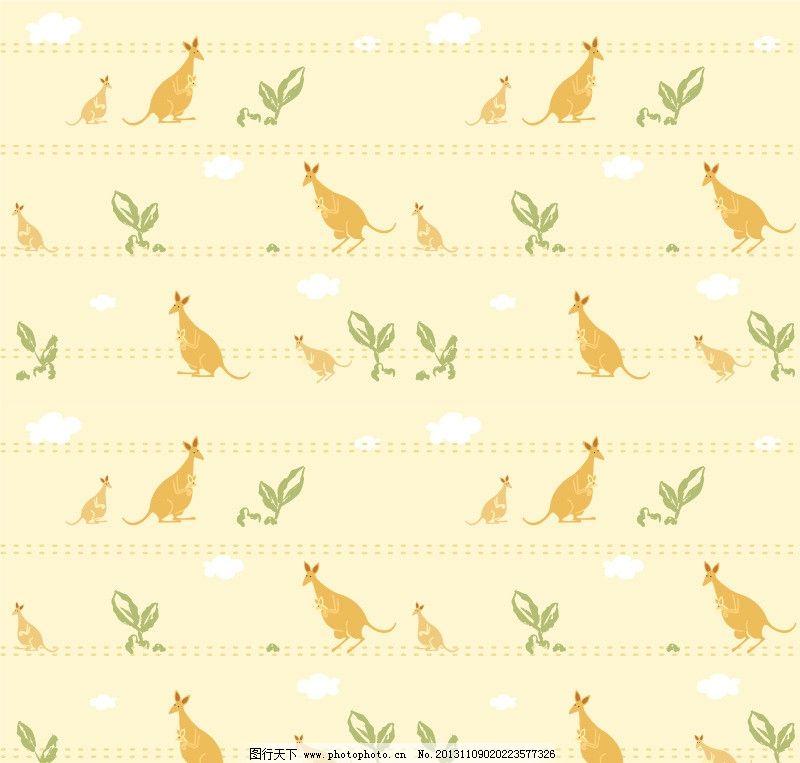 袋鼠 布纹 底纹 花 花边 背景 可爱背景 可爱底纹 小动物 底纹背景