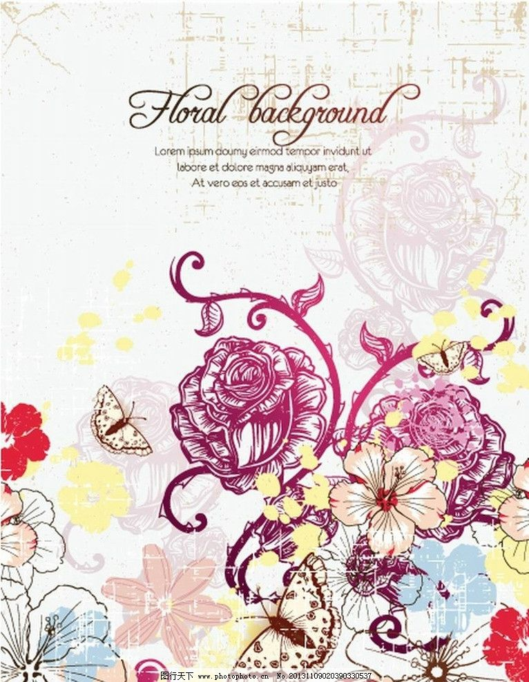 设计图库 底纹边框 花边花纹  花纹花朵蝴蝶 欧式 古典 花纹 花边