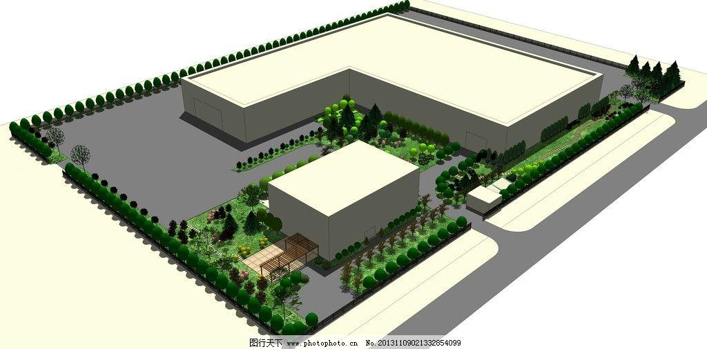 厂房绿化图片_室外模型_3d设计_图行天下图库