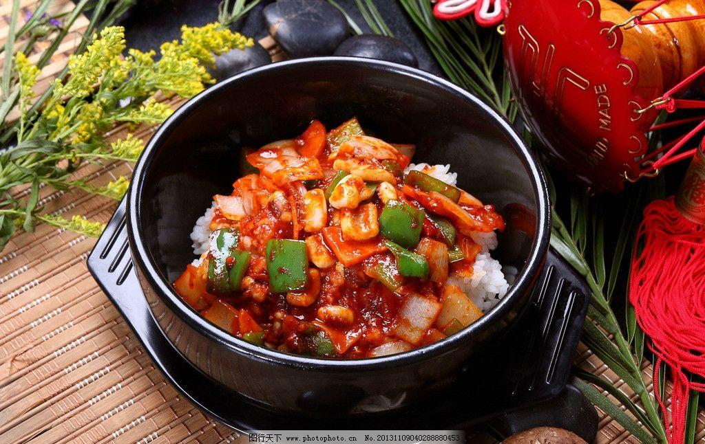 设计图库 动漫卡通 动漫人物  韩国美食鱿鱼拌饭 韩国 美食 鱿鱼拌饭