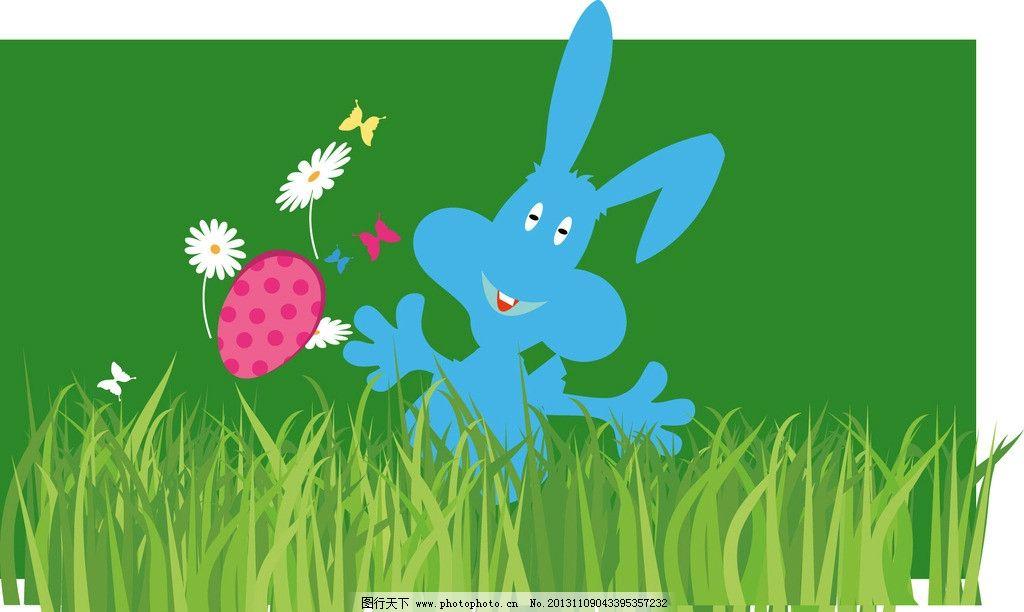 可爱的兔子在草丛游戏图片_ppt图表_ppt_图行天下图库