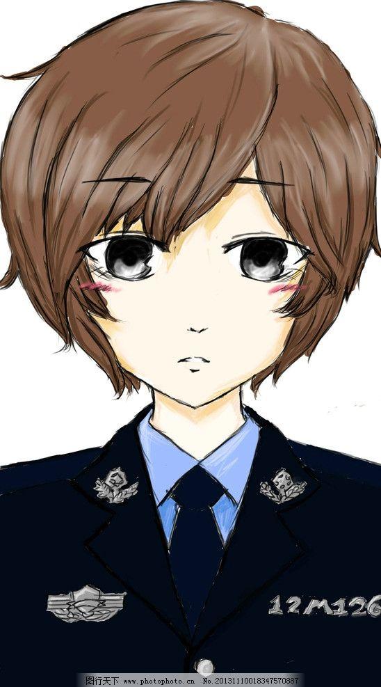 警察女漫画人物 女 半身 警察 漫画 人物 动漫人物 动漫动画 设计 256