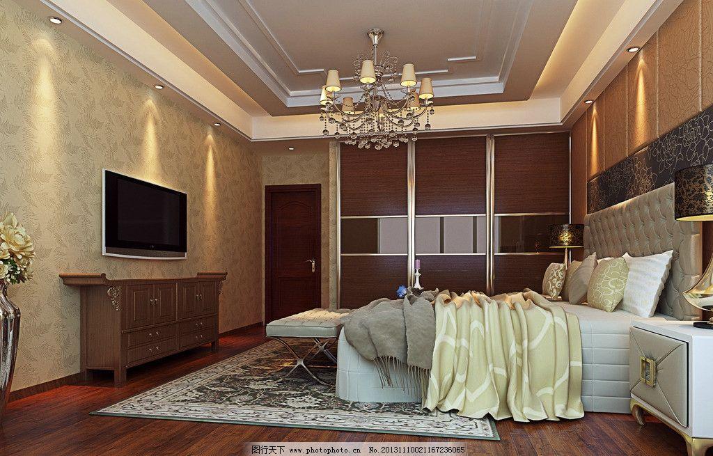 中式卧室效果图 新中式