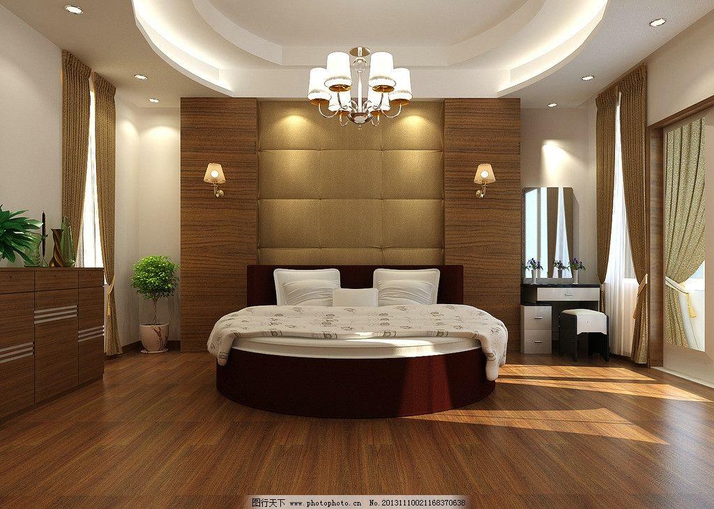 新中式主卧室效果图 室内设计 装修        3d设计 欧式女儿房 简欧图片