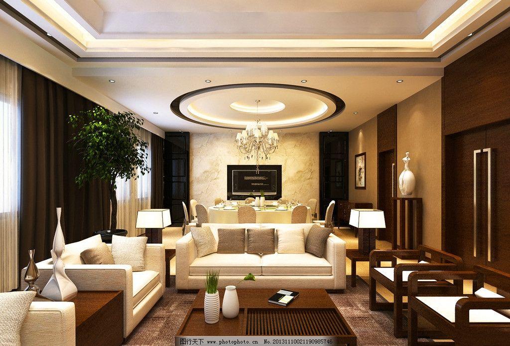 3d中式餐厅模型 3d效果图 商业空间 酒店餐厅 中式酒店餐厅 餐厅包间图片
