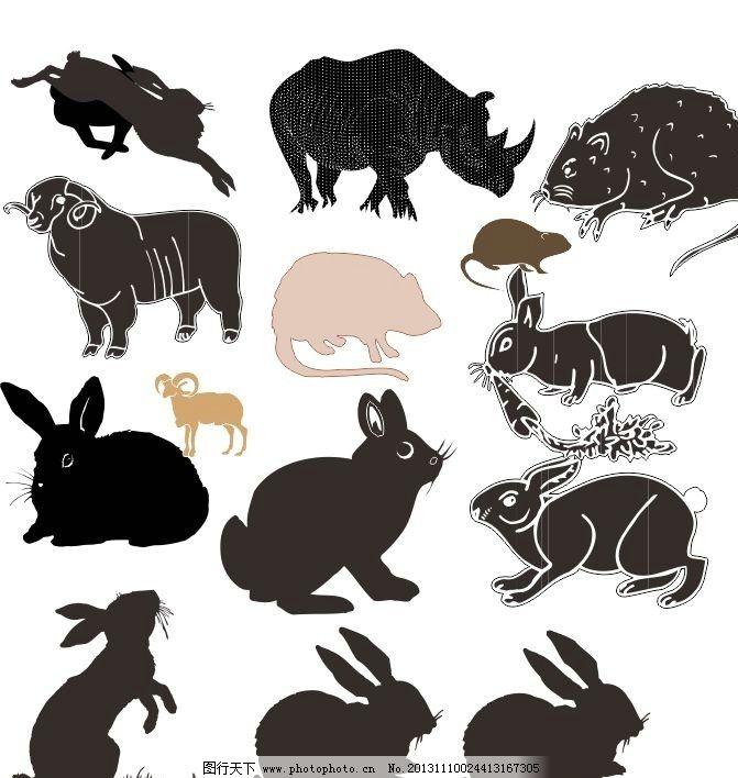 动物世界 兔子 经典动物素描图