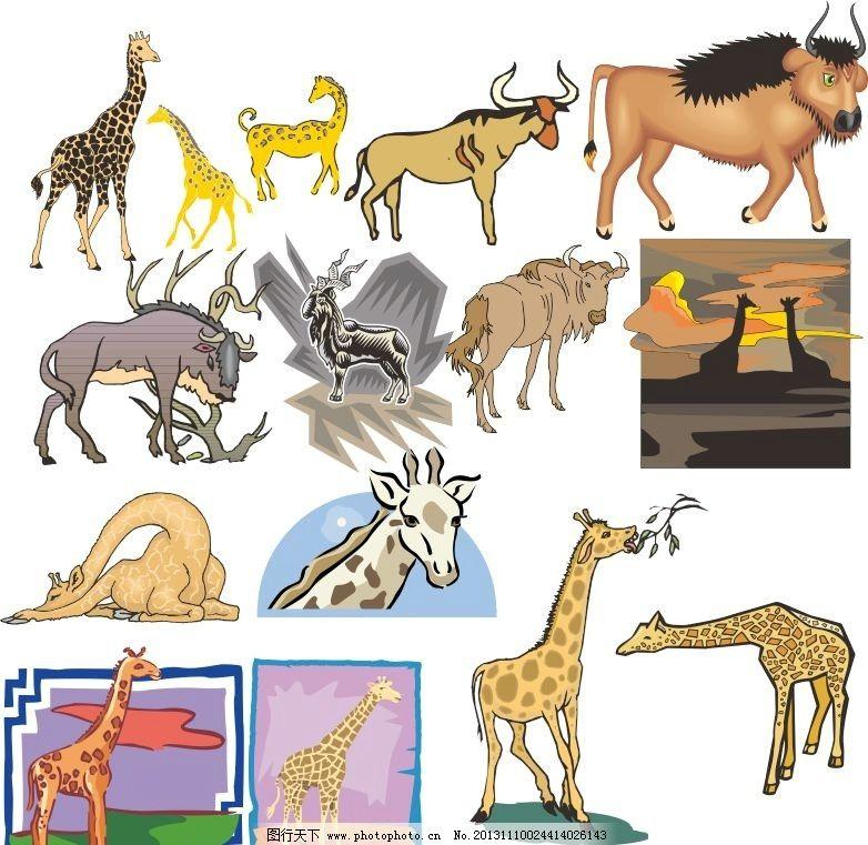 动物世界 长颈鹿 马 牛 生肖 生肖动物 动物家族 素描 动物 陆地动物 生物世界 各种动物矢量素材 各种动物模板下载 各种动物 素描图 广告设计 矢量 CDR 线条 海洋动物 简笔画 手绘动物矢量素材 野生动物