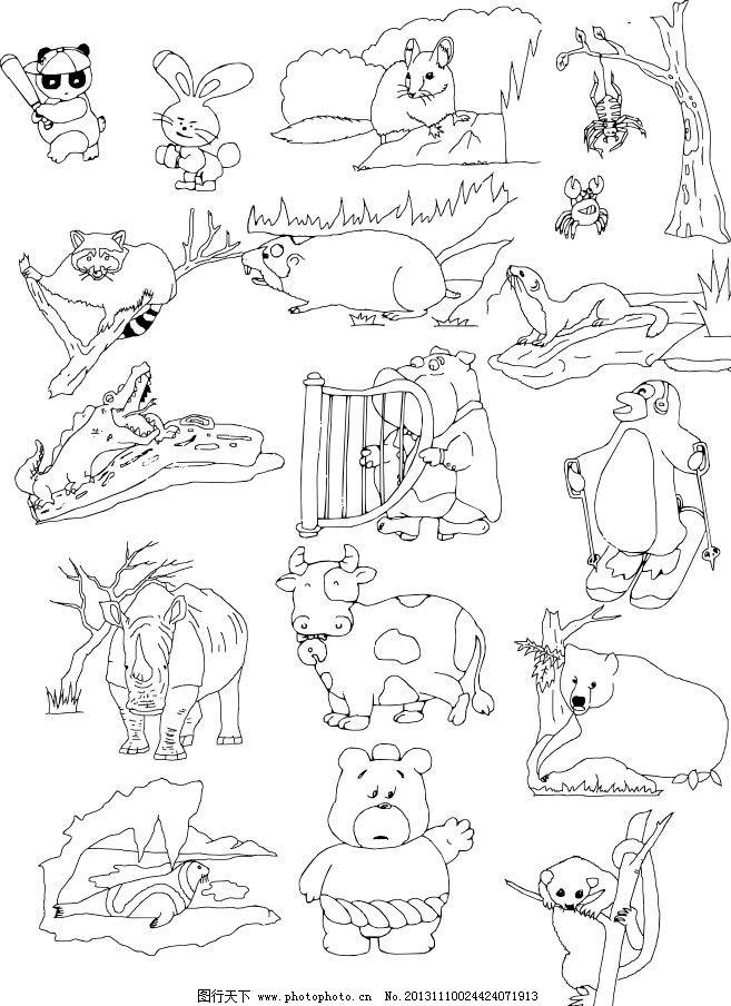 卡通动物 卡通牛 卡通兔子 卡通树獭 卡通狮子 卡通骆驼 卡通鸟 卡通图 儿童素材 经典动物素描图 素描 动物 陆地动物 生物世界 各种动物矢量素材 各种动物模板下载 各种动物 广告设计 线条 海洋动物 手绘动物矢量素材 野生动物 矢量 CDR