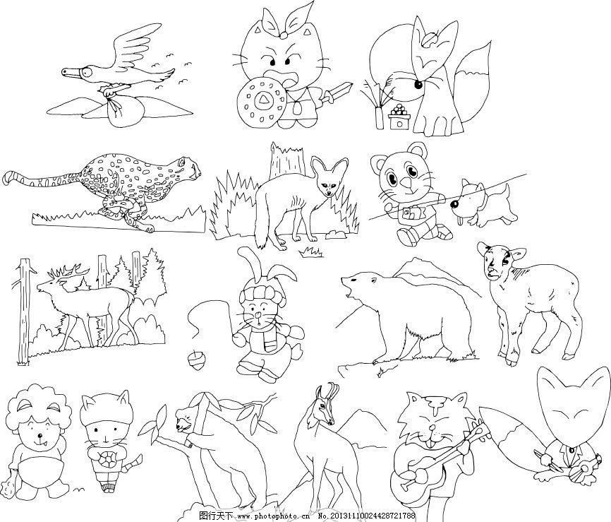 恐龙世界简笔画