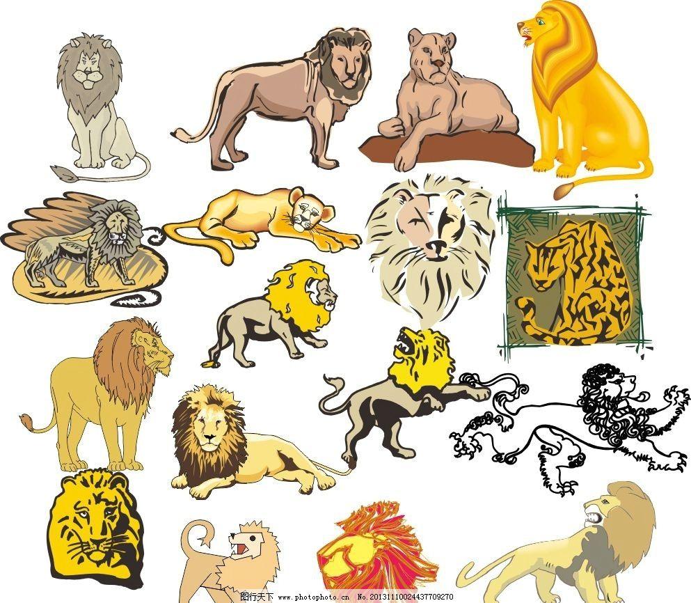 动物世界 狮子 金毛狮王 豹 野豹 凶猛动物 动物家族 素描 动物 陆地动物 生物世界 各种动物矢量素材 各种动物模板下载 各种动物 素描图 广告设计 矢量 CDR 线条 海洋动物 简笔画 手绘动物矢量素材 野生动物