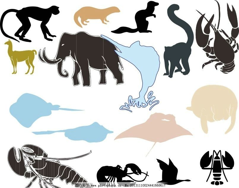 8k纸动物世界简笔画整图