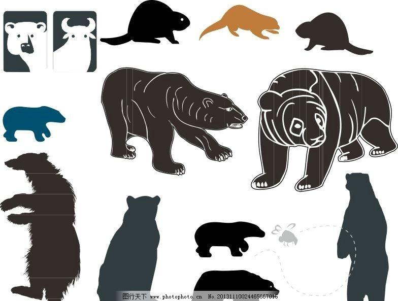 广告设计 矢量 cdr 线条 海洋动物 简笔画 手绘动物矢量素材 野生动物