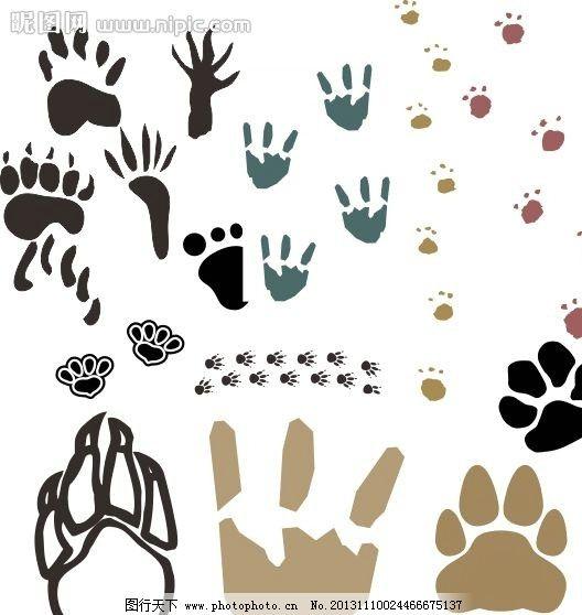 动物爪子简笔画