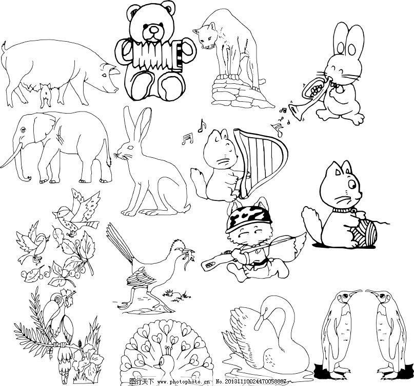 狐狸动物素描图片大全