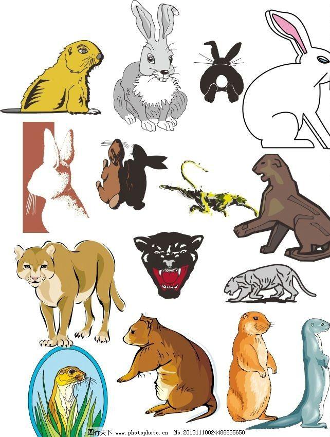 各种动物 素描图 广告设计 矢量 cdr 线条 海洋动物 简笔画 手绘动物