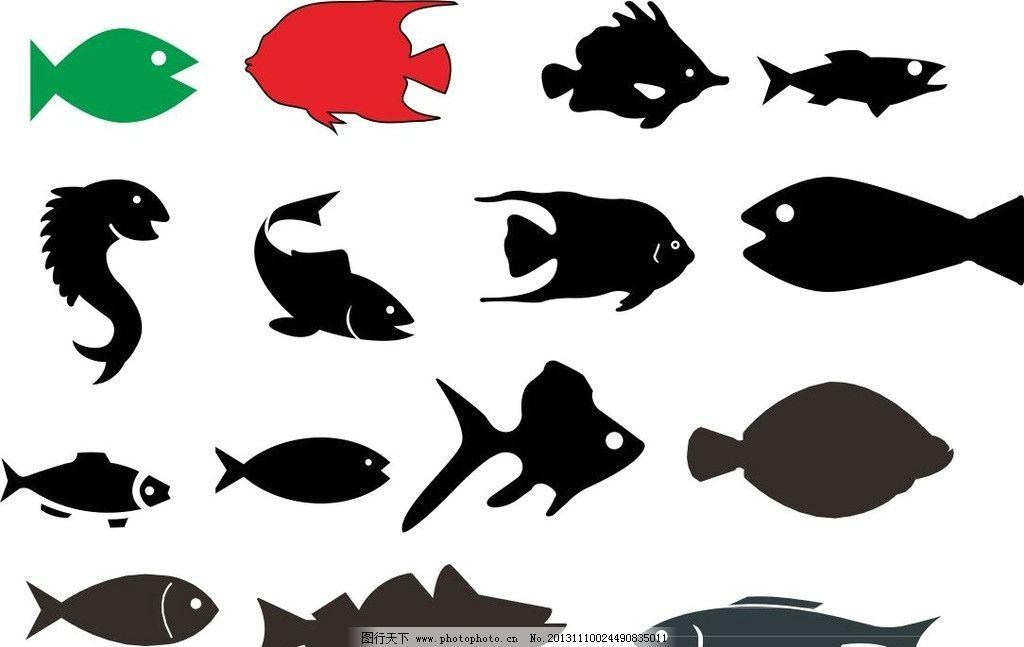 各种动物模板下载 各种动物 素描图 广告设计 矢量 cdr 线条 海洋动