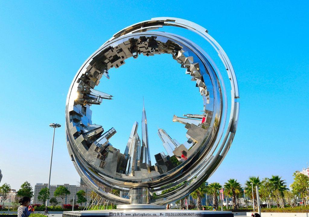 深圳北站城市雕塑 漂亮的雕塑 圆形雕塑 深圳北站广场 建筑园林图片