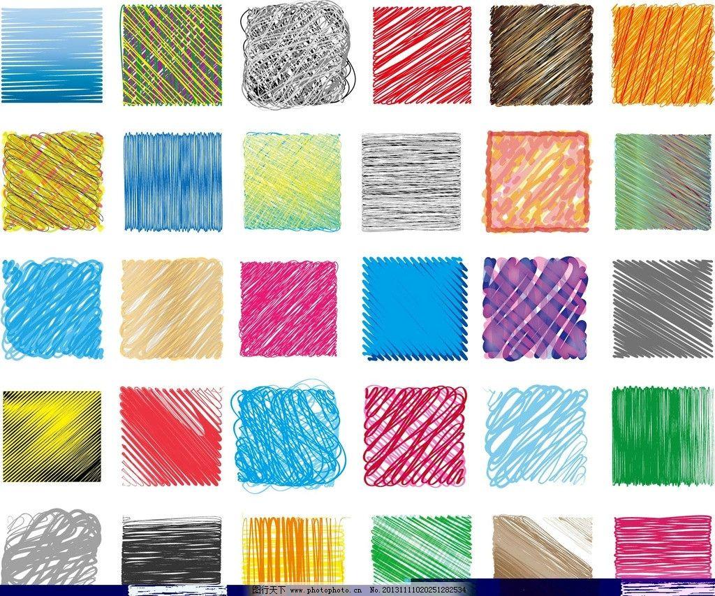 底纹 色块 笔触 手绘 线条 平面设计 广告设计 底纹背景 底纹边框