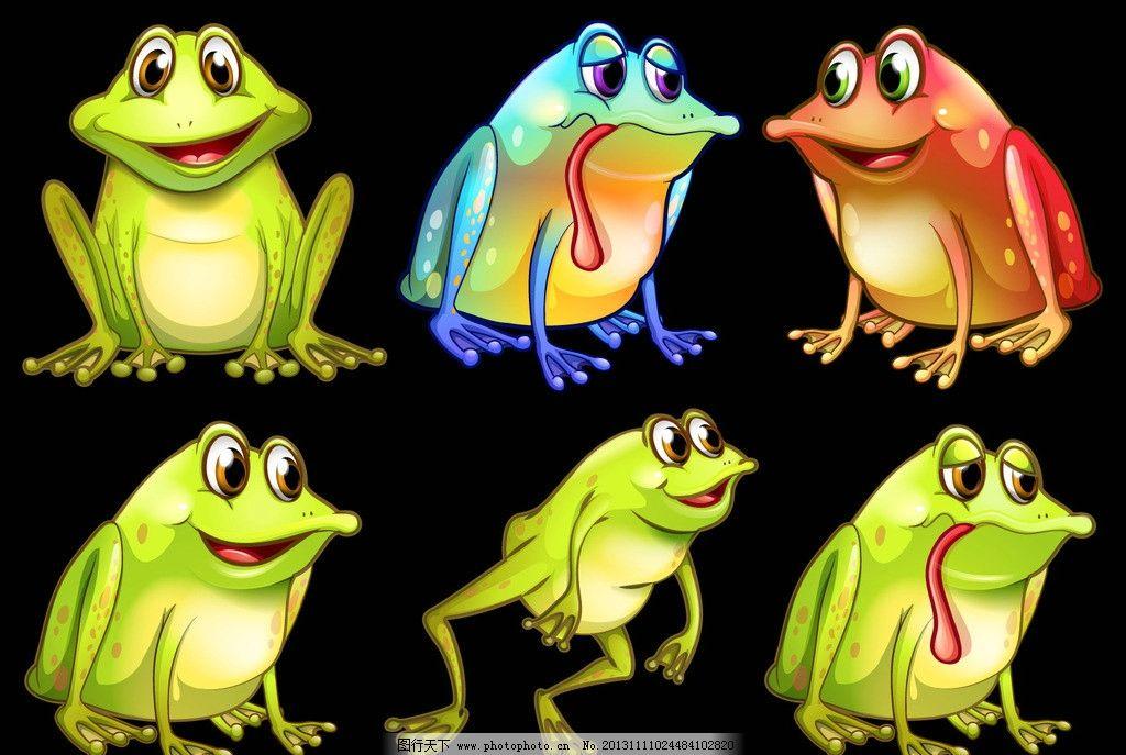 青蛙 水底生物 动物 爬行动物 两栖动物 矢量