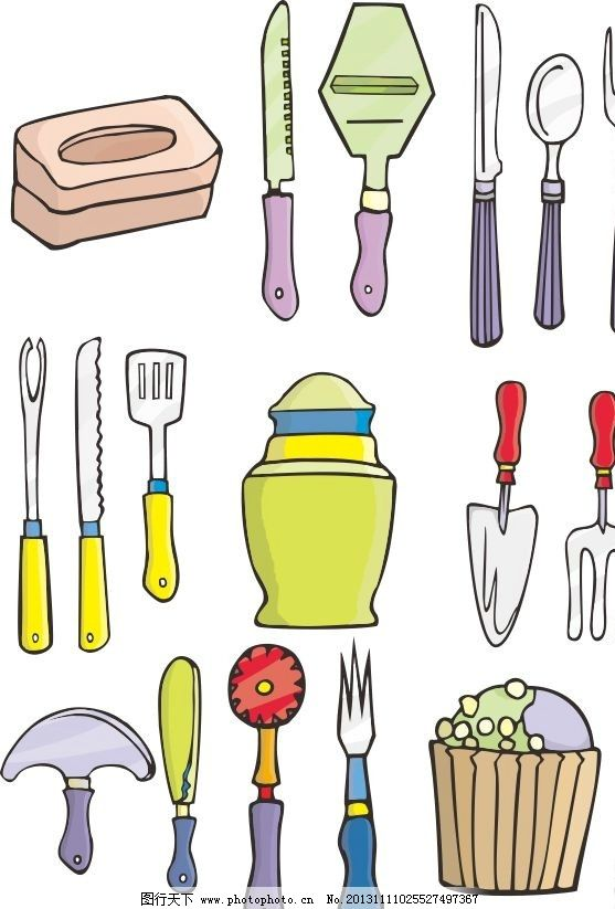 生活用品 刀叉 刀 水果刀 叉 冰激凌 水壶 刀具 存刀器 盘子 厨房用品