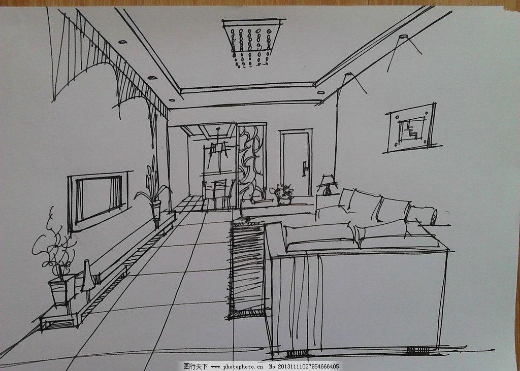 手绘 室内效果图 手绘室内效果图 手绘建筑 手绘作品 室内设计 环境