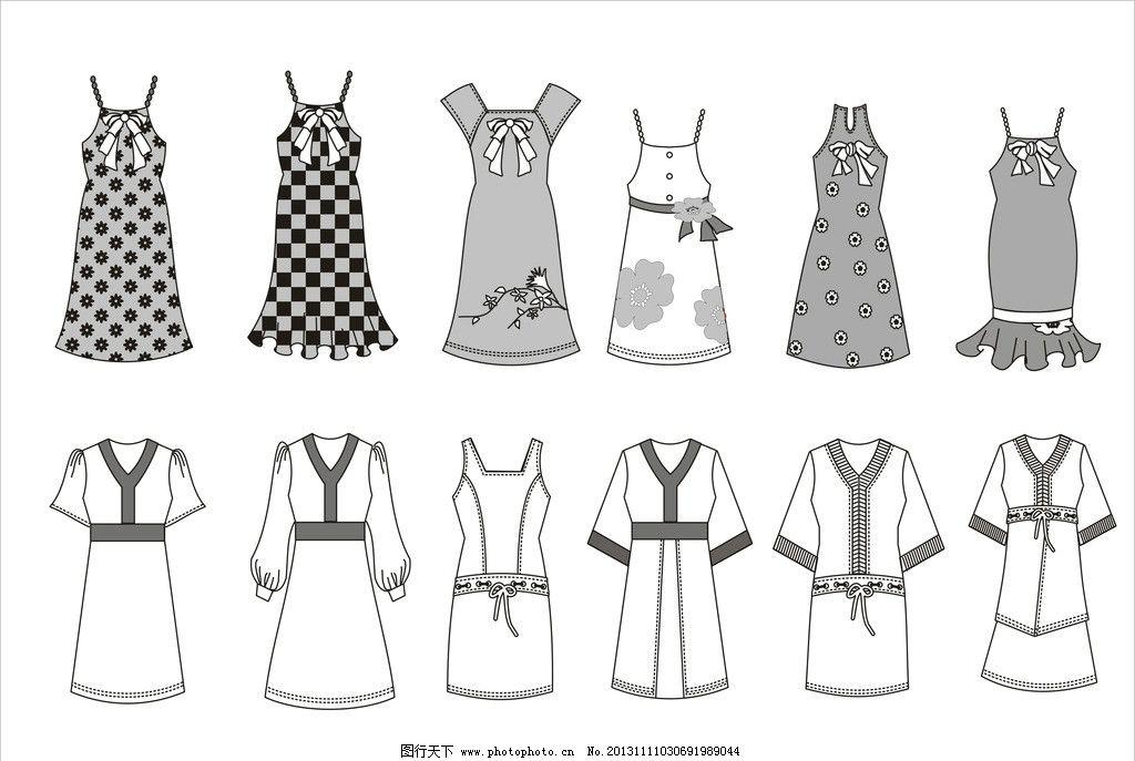 服装款式图 服装 服装设计 服装矢量图 裙子款式 衣服款式 广告设计